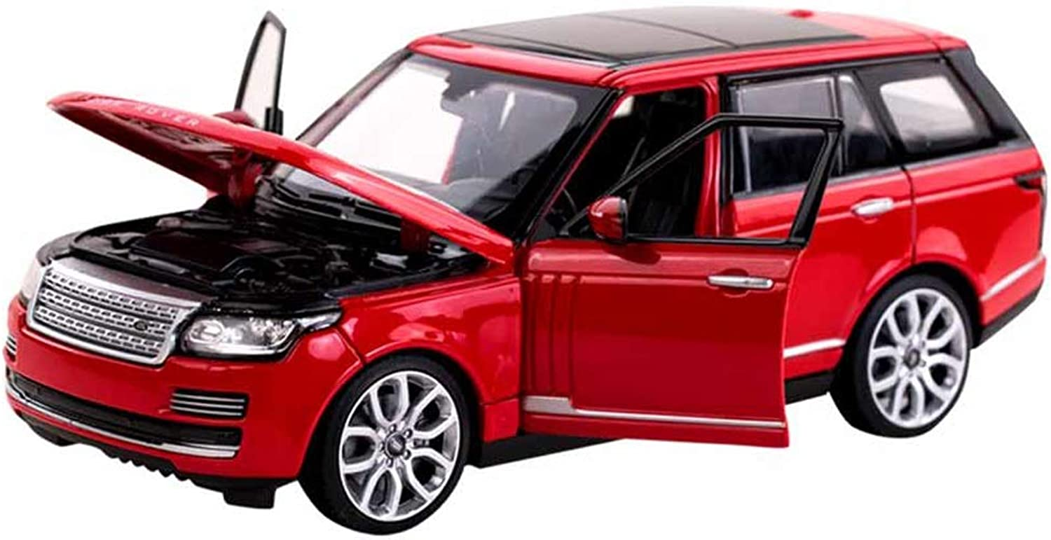 MUYB Car Model Die Casting Car 1 24 Land Rover Range Rover Alloy Car Model Decoration Collection Gift Toys (color   Red, Size   20cm10cm7.5cm)
