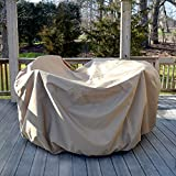 Island Umbrella NU5562 All-Weather Protective Cover for 54' Round Table & Chairs with Umbrella Hole