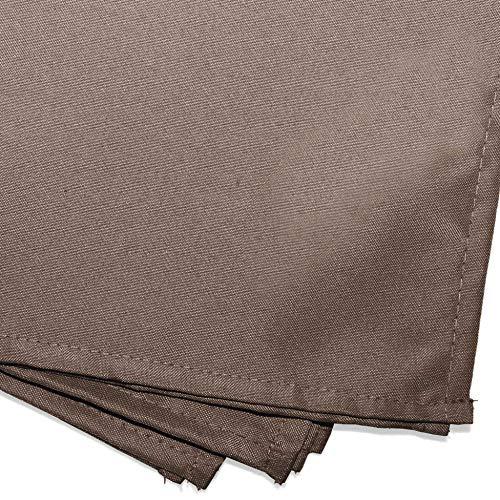 douceur d'intérieur 3 serviettes de table 40x40 cm essentiel taupe