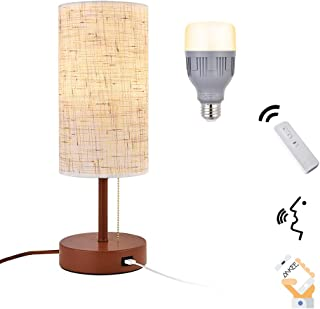 Ankee Smart Bedside lamp, Nightstand Lamp with WiFi Smart Light Bulb and USB Charging Port, Metal Base Table Lamp Minimalist Design Desk Lamp Ideal for Bedroom, Living Room, Guest Room