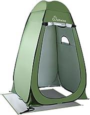 WolfWise ポップアップ テント シャワー ポータブル キャンプ ビーチ トイレ プライバシー テント 設営簡単 更衣室 アウトドア リュック シェルター
