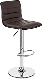 MYAOU Taburete de Barra con elevación de Gas Giratorio de 360 Grados taburetes de Asiento de Piel sintética para silla...