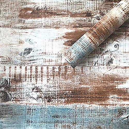 HOYOYO 178 x 118 Inches Self-Adhesive Liner Paper Removable Shelf Liner Wall Stickers Dresser Drawer Peel Stick Kitchen Home Decor Rust Wood Grain
