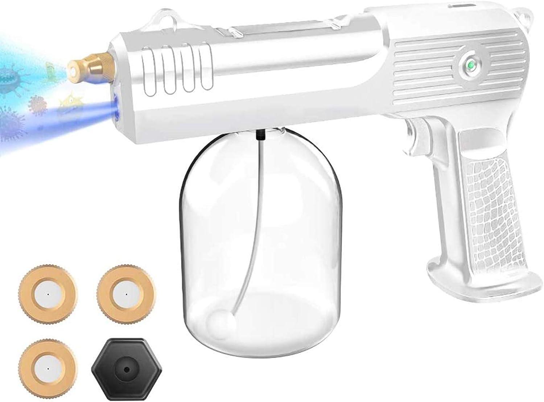 Boyuan Pulverizador eléctrico ULV desinfectante inalámbrico, pulverizador Nano-nebulizador electrostático portátil, Boquilla Recargable de Mano, nebulizador Ajustable, con 4 boquillas Desmontables