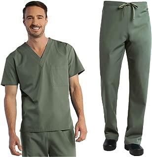 Red Panda Unisex V-Neck Top & Unisex Basic Pants Scrub Set
