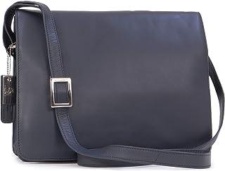 Visconti Organiser Bag- Atlantic Leather- Cross Body/Shoulder / iPad/Kindle / Work/Leisure Bag- Tess - 754 - Dark Blue/Navy