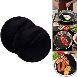 Jourbon Grill Mat BBQ Sartén Sartén Teflon Esteras antiadherentes Reutilizables para sartén Cocina de inducción Parrilla de Gas Parrilla de carbón Carne Pescado y Verduras