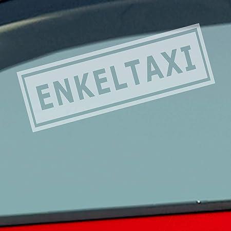 Auto Aufkleber In Deiner Wunschfarbe Enkeltaxi Oma Opa Enkel Kind Tuning Fun 15x5cm Autoaufkleber Sticker Folie Auto