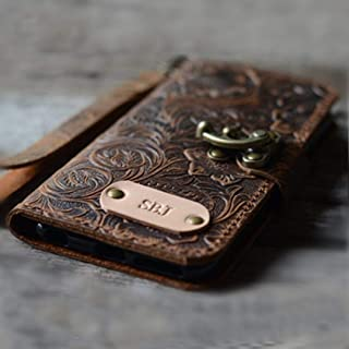 Handmade Genuine Leather Wallet Case For Iphone 12 Pro Max Case For Iphone 12 Pro / 12 mini With Wristlet Brown Iphone 11 ...