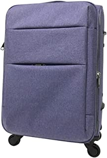 FDSjd Trolley Box Men and Women Suitcase Soft Box Nylon Oxford Cloth Box College Student Universal Wheel Travel Suitcase (Color : Light Purple, Size : 24 inches)
