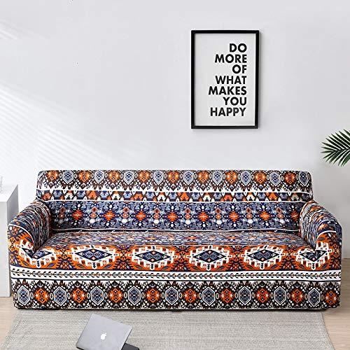 WXQY Funda de sofá Floral elástica Sala de Estar Funda de sofá elástica cojín de protección de Muebles Funda de sofá Todo Incluido Chaise Longue A17 4 plazas