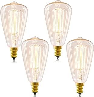 Candelabra Vintage Edison Bulbs, INNOCCY 40W E12 Antique bulb Teardrop Warm White Dimmable Chandelier Edison light, 4 Pack