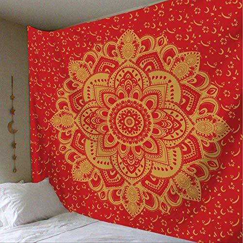JMKHY Tapiz Pared Mandala de Pared Hippy Boho Decorativo Decoración de Tela de Pared Alfombra de Pared Estera de Yoga 148x200cm