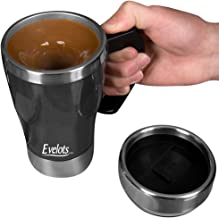Evelots Self Stirring Coffee Mug-Travel-Electric-Tea-10 Ounces-Stainless Steel