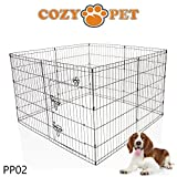 Cozy Pet Medium Puppy Playpen for Dogs Puppies Rabbits Guinea Pigs, Puppy Play