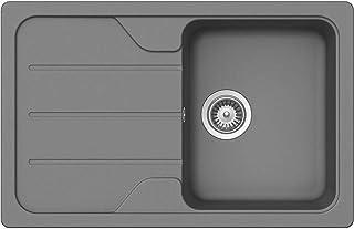 Schock Formhaus D-100 S Croma Granitspüle Grau Auflage Küchenspüle Einbau