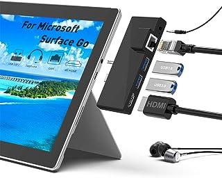 Surface Goドッキングステーション、5 in 1 SurfaceGoドッキングステーションUSBCハブHDMIアダプター、1000M RJ45イーサネット、4K HDMI、2 USB 3.0ポート、Microsoft Surface G...
