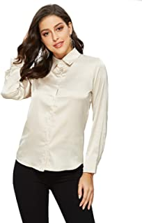 Best champagne satin blouse Reviews