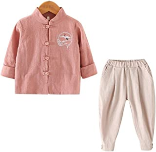 XueXian Tang Suit Chinese Style Hanfu Long Sleeve Tops for Boys Girls Outfits