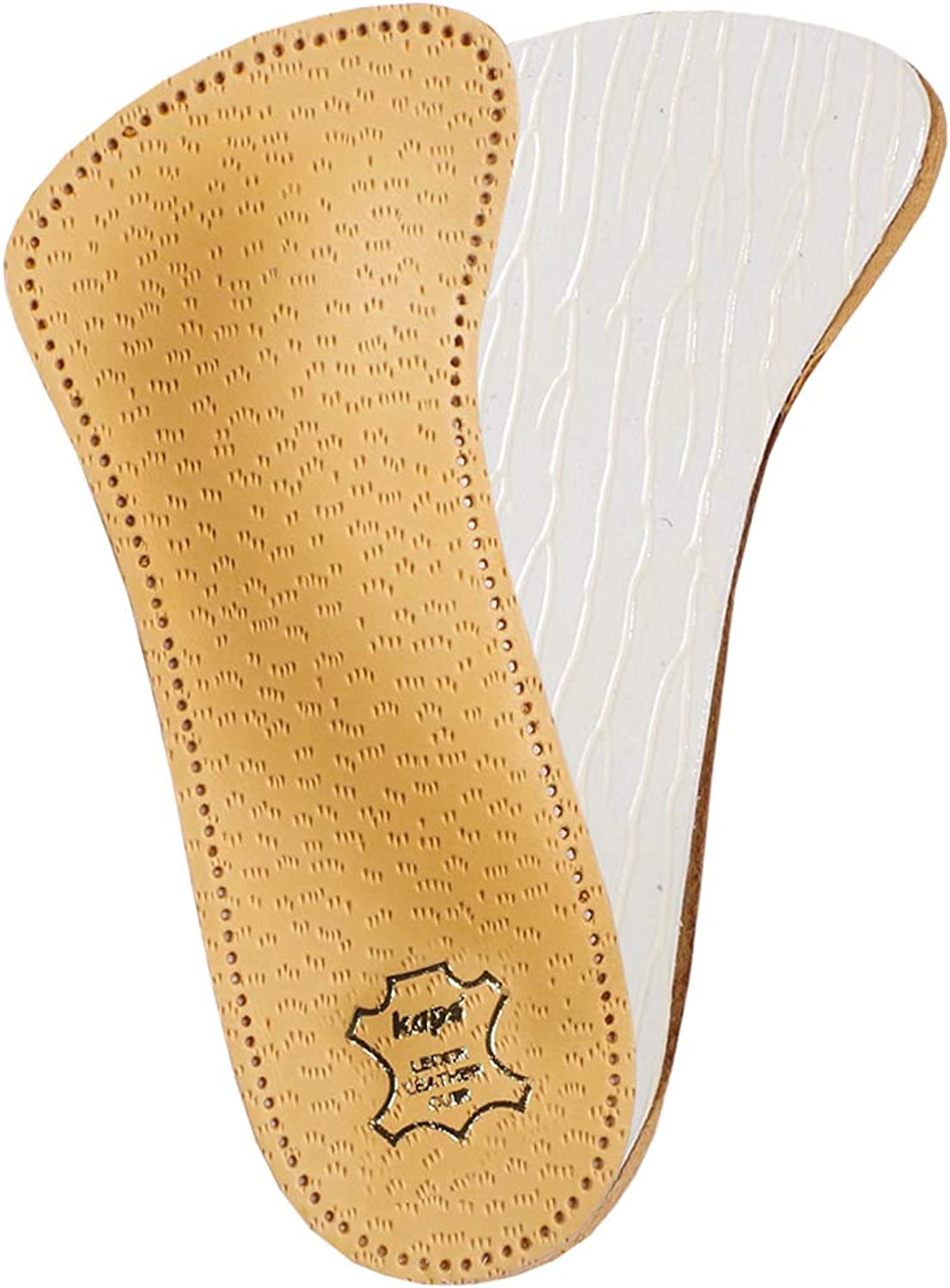 Orthotic 3 4 leather insoles with longitudinal and transverse arch support, Kaps Flamenco, 40 EUR   7 UK   Women by Kaps