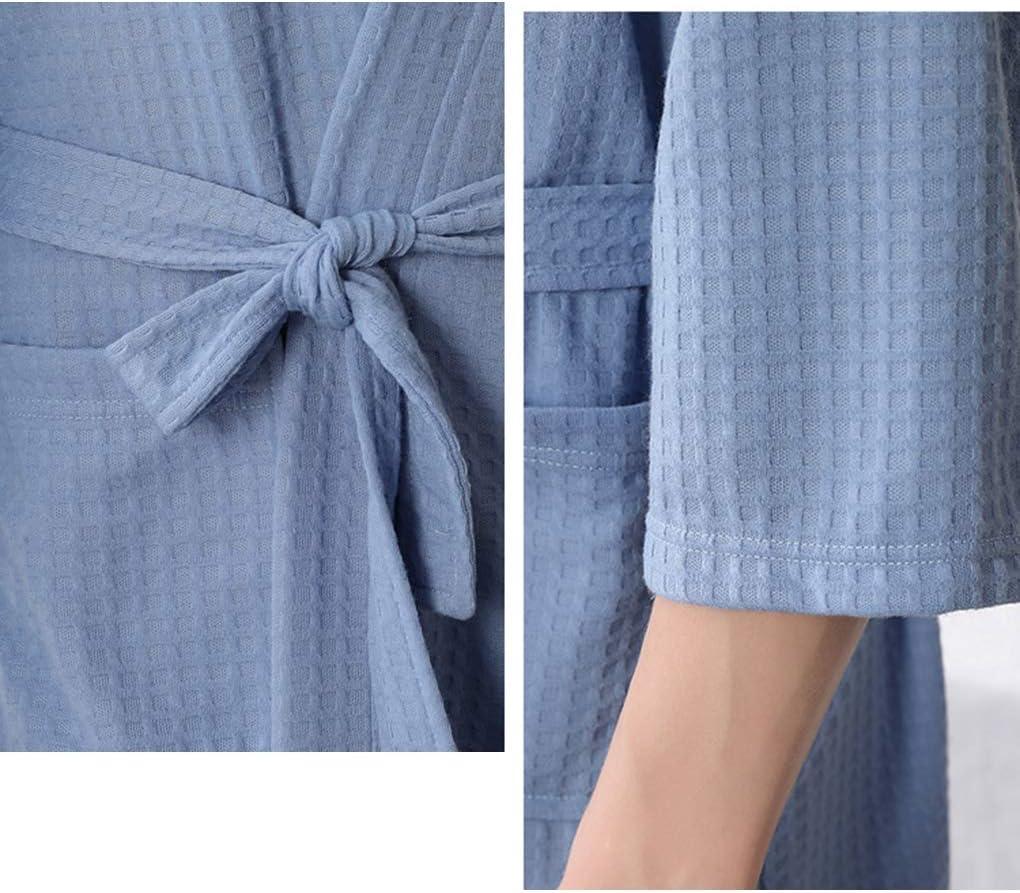 Jinghengrong Assorbimento Donne Acqua Accappatoio Solid Waffle Accappatoio Spa Abito Camicia da Notte Home Abito Camicia da Notte