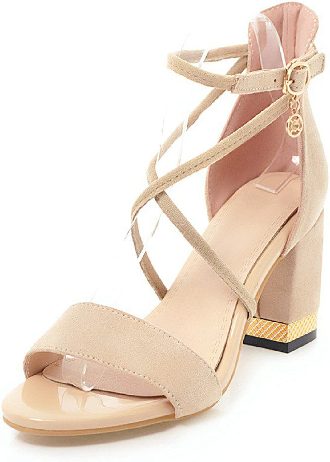 Casual for Metal Toe Open Heel Chunky Sandals Club Summer