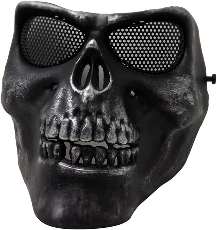 JJIIEE Full Face Skull Masks Ou Mesh Airsoft SEAL limited product Max 86% OFF Mask Foldable