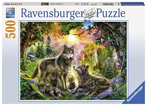 Ravensburger Puzzle 14745 - Wolfsfamilie im Sonnenschein - 500 Teile
