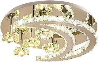 JJZXD Modern LED Flush Mount Ceiling Light Chandeliers Moon Star Shape Lighting for Living Room Bedroom Kids Room
