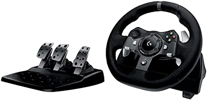 Logitech G - G920 Driving Force - Volante para Simulador de Carreras para Xbox One y PC - Negro