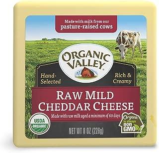 Organic Valley, Organic Raw Mild Cheddar Cheese - 8 oz Block (Individually Wrapped)