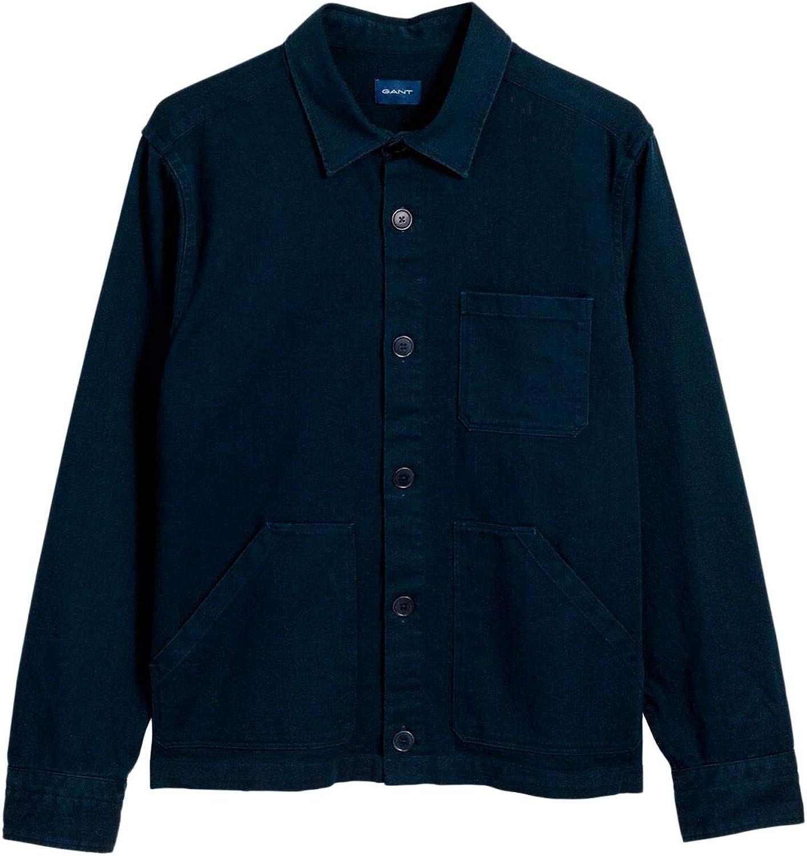 GANT Men's 19013015134410 blueee Cotton Jacket