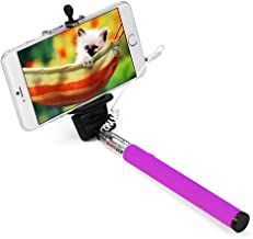 Apsmart 40inch no battery aux cable wired Selfie stick for smart phone (Purple)