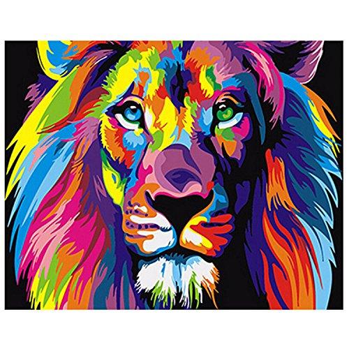 Gosear Pintar por Numeros,Pintura al óleo Animal de DIY Digital Que colorea por números en la decoración del Arte de la Pared de la Lona de Lino (40 x 50 cm/15.75 x 19.69 Pulgadas)