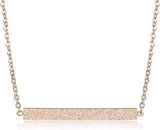 Minimalist Bar Necklace, Rose Gold Necklace, Bar Necklaces Women, Rose Gold Jewelry Women, Gold Bar Necklace Rose Gold Bar Necklace, Horizontal Bar Necklace