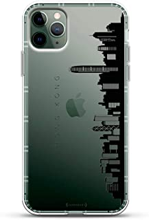 Landmarks: Hong Kong Black & White Skyline   Luxendary Air Series Clear case with 3D-Printed Design & Air Cushions for iPhone 11 MAX