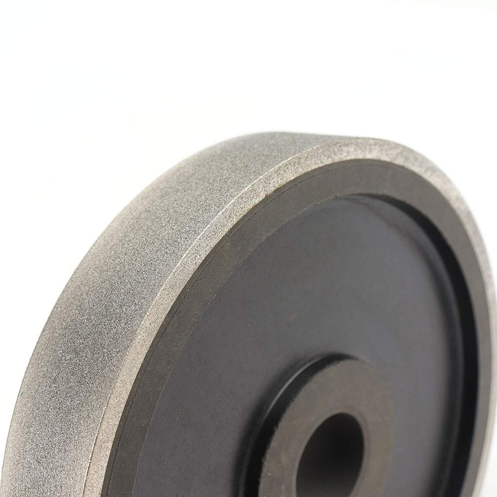 150Grit SI FANG 6inch Diamond Grinding Wheel Lapidary Jewelry Grinding Wheel 150 Grit with 1 Arbor Hole for Grinding Hard Alloy Cutter Tungsten,Glass Tiles Marble Stone