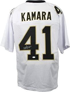 Alvin Kamara Signed Custom White Pro-Style Football Jersey JSA