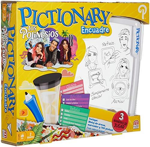 Mattel Games Pictionary Juegos de Mesa Los Polinesios Pictionary Encuadre Youtubers +7 años