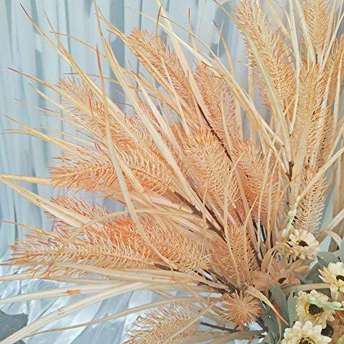 Yipianyun Künstliche Blumen, Künstliche Kunstpflanzen, Künstliche Schilfpflanzen, Künstliches Zwiebelgras, Fuchsschwanz, Indoor-Zierpflanzen, Indoor-Gartenpflanzen,Gelb
