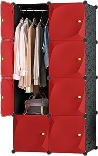 Spécial/Simple Armoire rouge portable rouge pour suspendre les vêtements de vêtements de stockage Organisateur Organisateu...