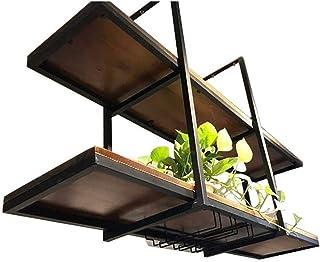 WYFZT Étagère Plafond Suspendu Support pour Fleurs Plantes d'intérieur présentation Cuisine Étagère à Cadre étagère Murale...