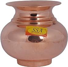 SHIV SHAKTI ARTS® Handmade Pure Copper Awesome Kalash/Lota with Shining Design Volume=700 ML for Diwali, Pooja, Festival-Home Decoration::Set of 1