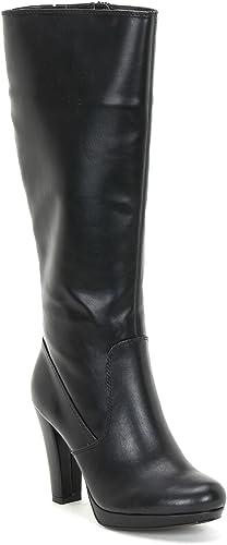 Estradà by chaussures&chaussures - Bottes avec Plateau, à Talons 9 cm
