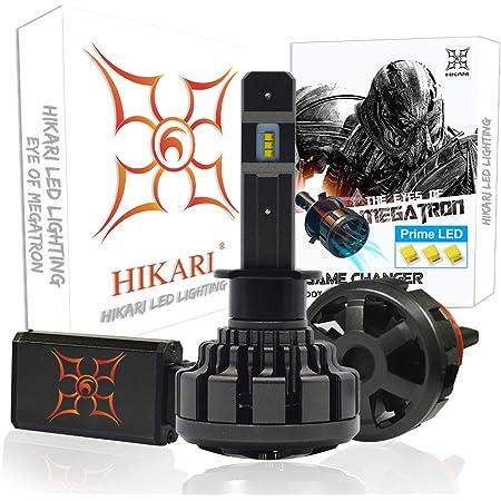 HIKARI Ultra H1 LED Bulbs Conversion Kit, Prime ZES LED, Halogen Replacement 6K Cool White Foglight IP68