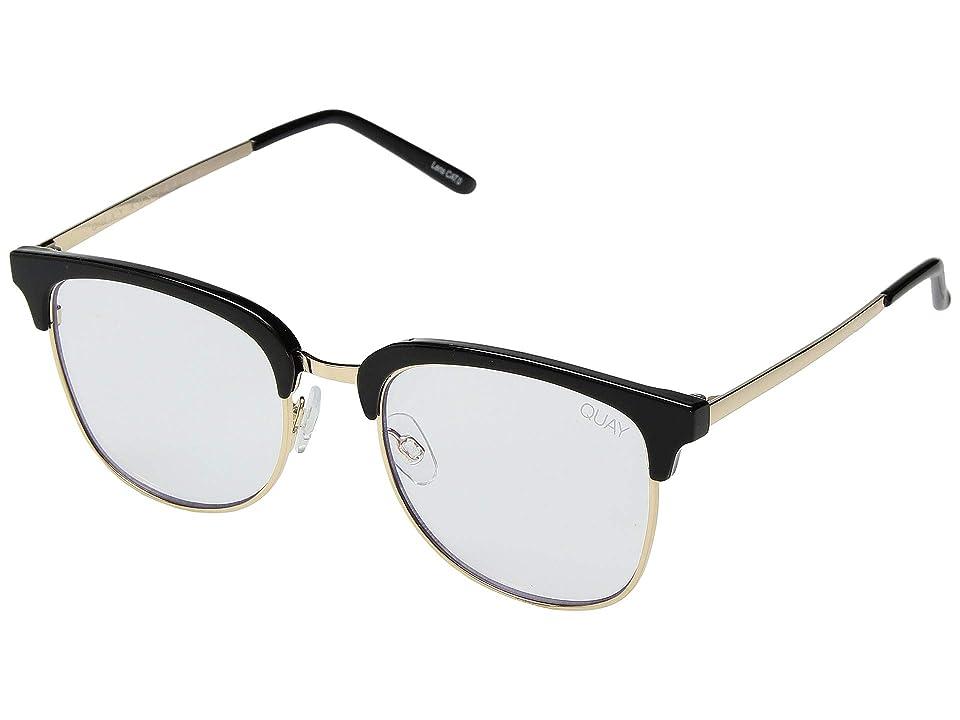 QUAY AUSTRALIA Evasive (Black/Clear Blue Light) Fashion Sunglasses
