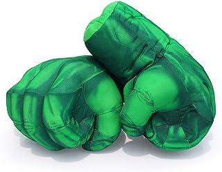 comprar comparacion Superhero Hulk Hands, Hulk Gloves Plush Hulk Fist Boxing Gloves Cosplay Costume for 18th 21st 30th 40th 50th 60th 70th 80t...