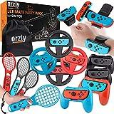 Paquete de accesorios de fiesta Orzly para Nintendo Switch Console con controladores y ruedas de...