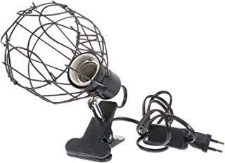 POPETPOP Lampa Gadowa Oprawa Drutowa Klatka E27 UVA UVB Light Bulb Holder Gad Ceramiczny Lampa Ciężarowa Zacisk Stań Gad B...