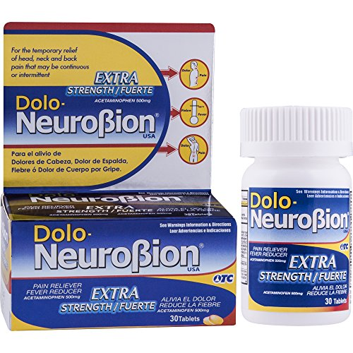 Dolo Neurobion 30 Tablets - Pain Reliever, Fever Reducer, Extra Strength, Fuerte, Alivia el Dolor, Reduce la Fiebre